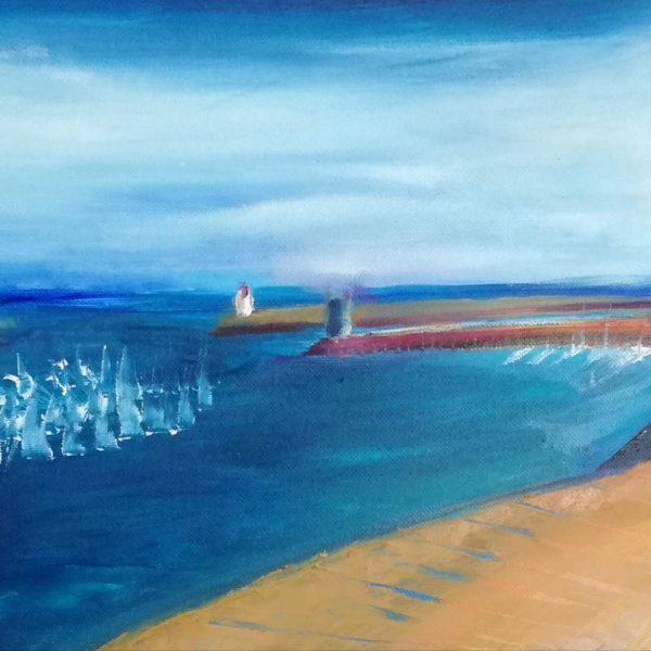 Petit Port de Bretagne Wharf Lighthouses